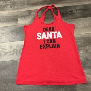 4/$25 VS Christmas Santa tank top